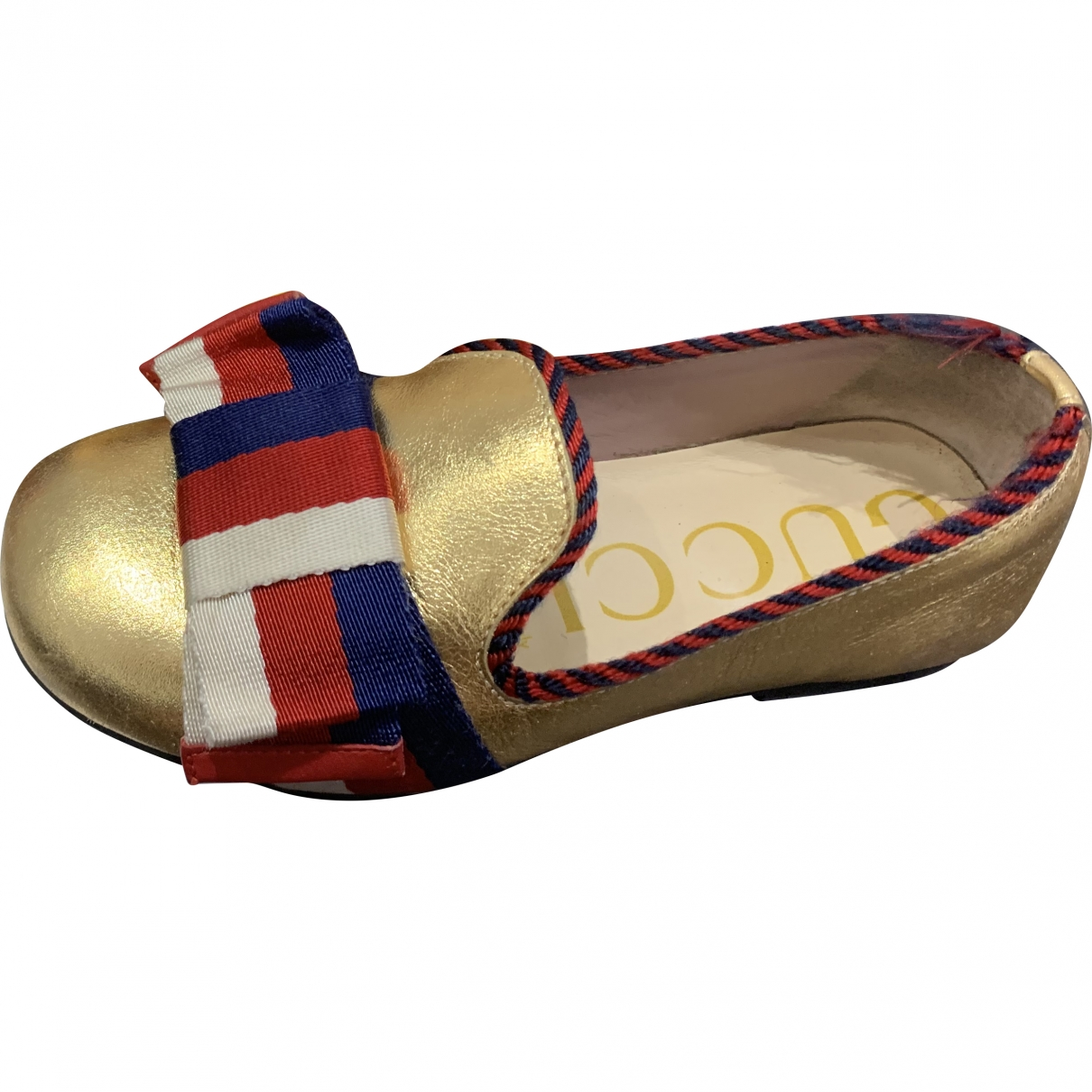 Gucci \N Gold Leather Flats for Kids 28 EU