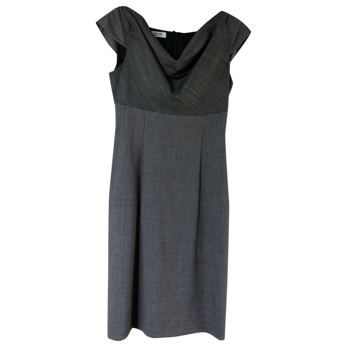 Moschino Cheap And Chic \N Grey Wool dress for Women 40 IT