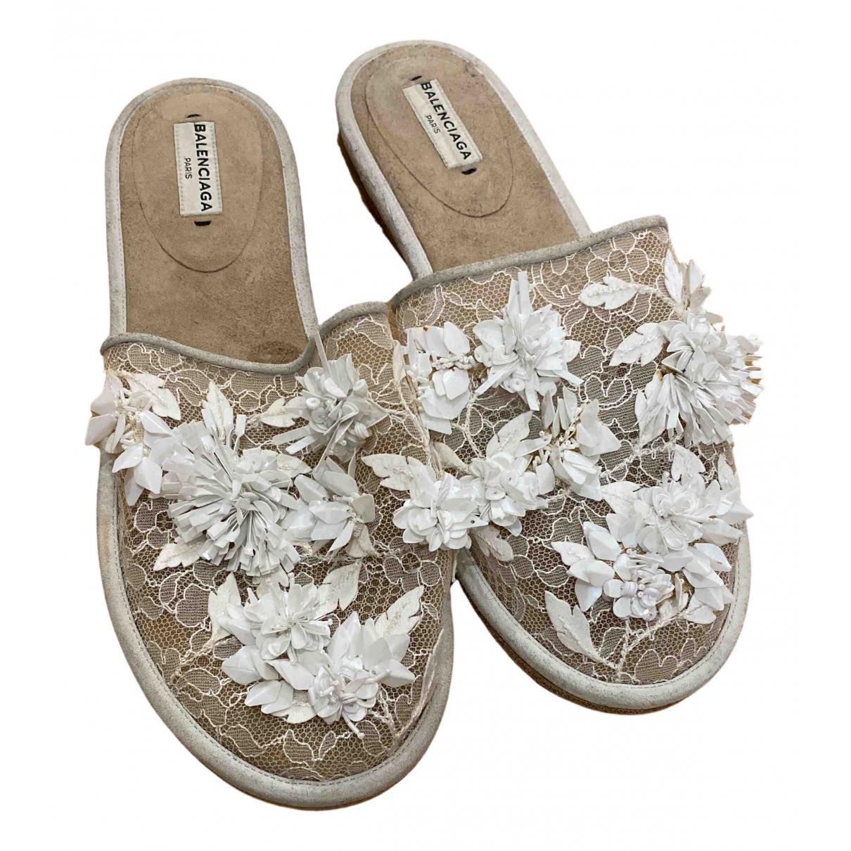 Balenciaga N White Cloth Sandals for Women 38 EU