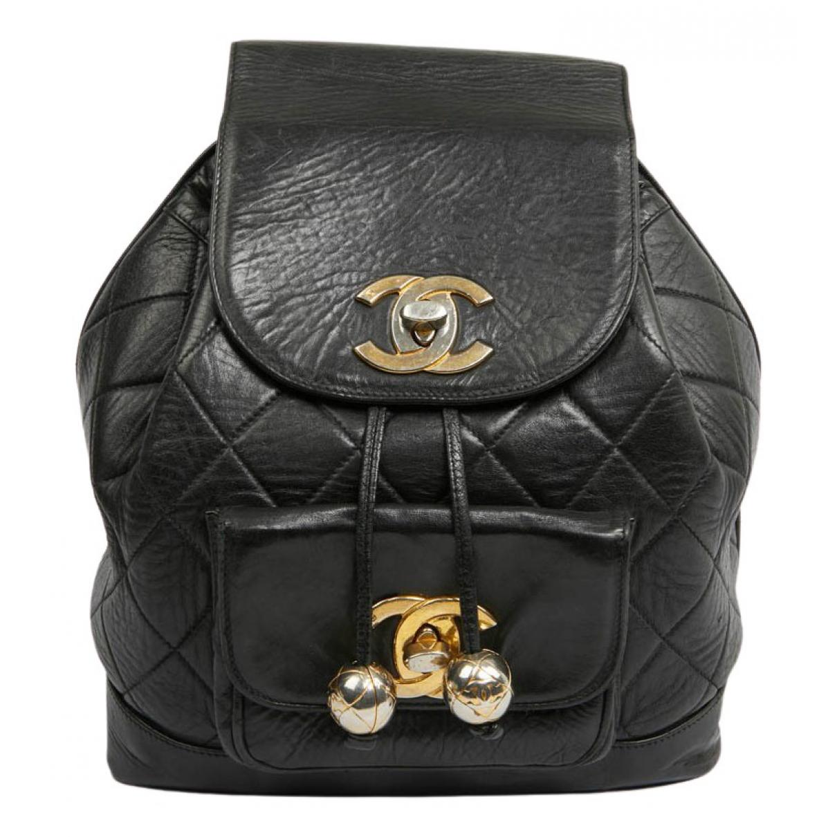 Chanel N Black Leather backpack for Women N