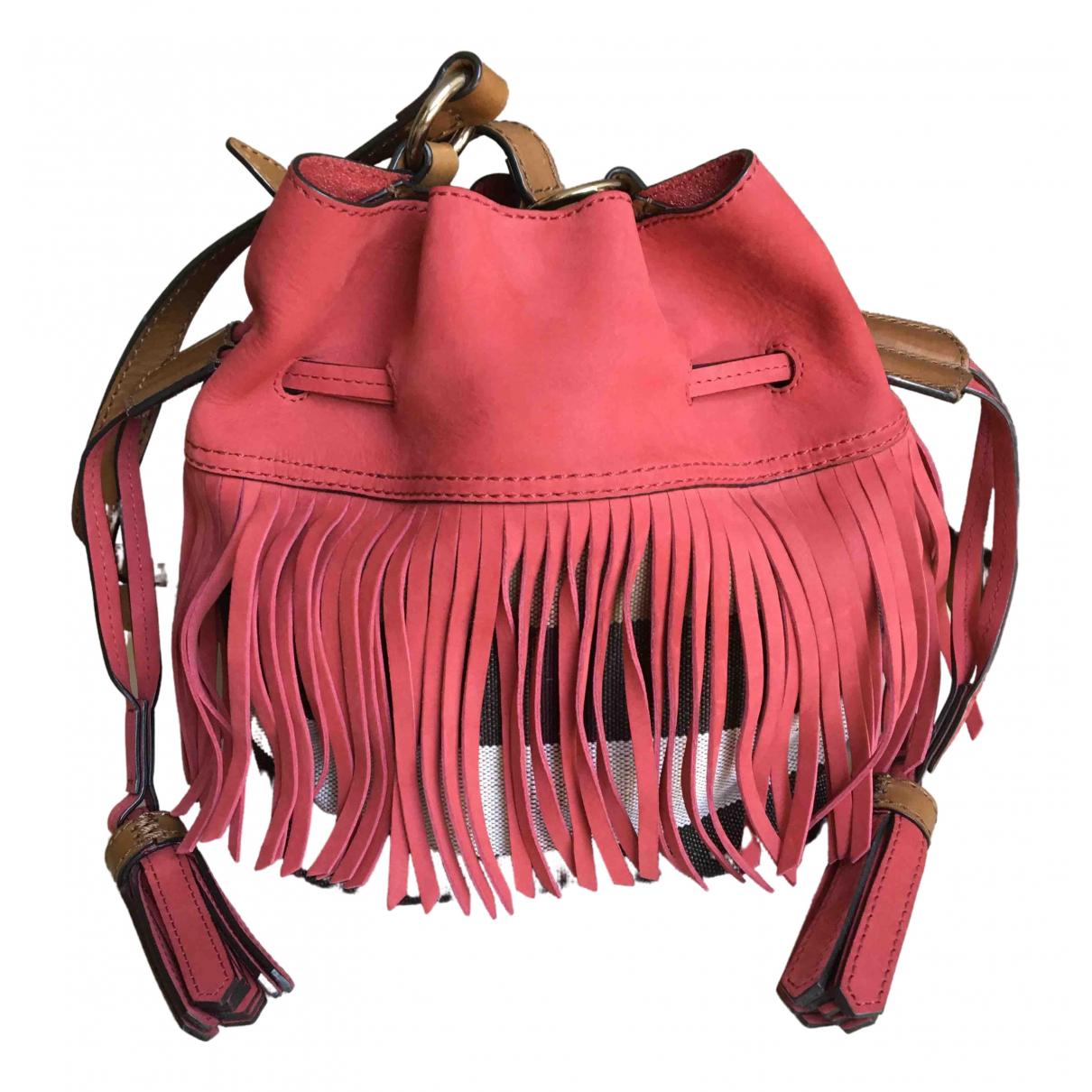 Burberry The Bucket Red Suede handbag for Women \N