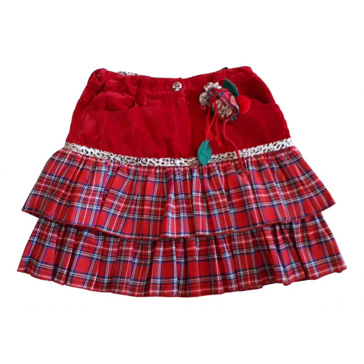 Monnalisa \N Red Cotton skirt for Kids 8 years - up to 128cm FR