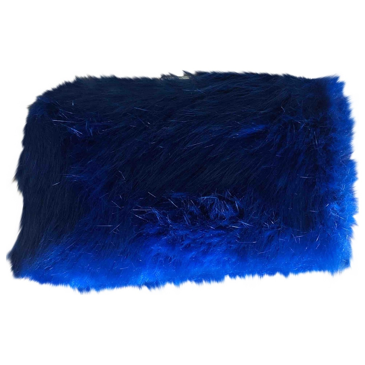 Pinko \N Blue Fur Clutch bag for Women \N
