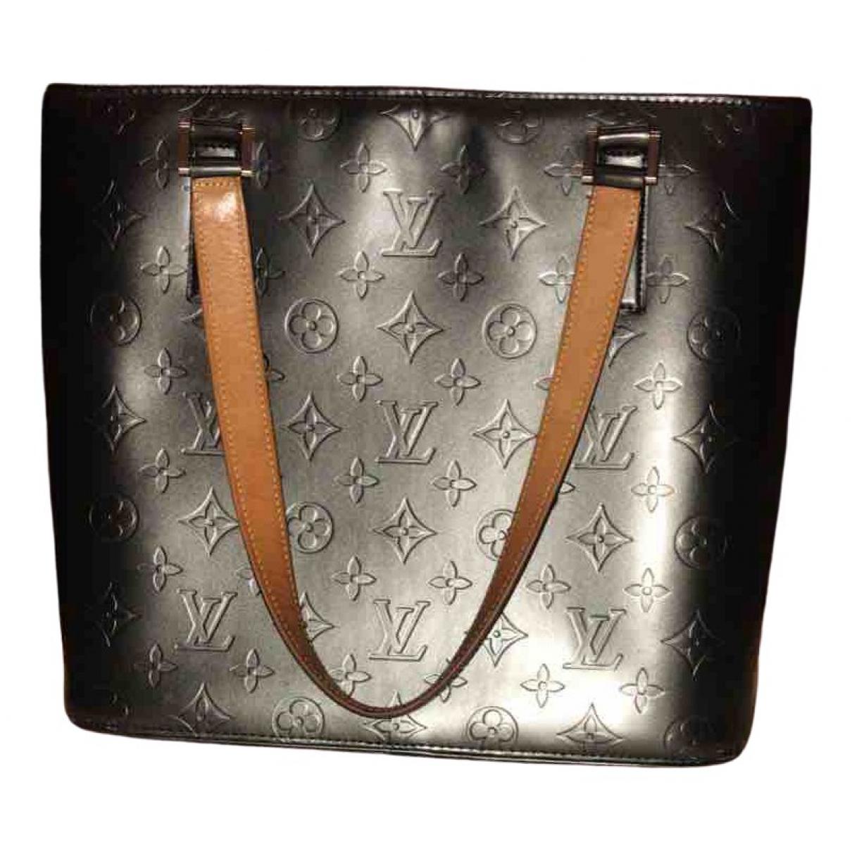 Louis Vuitton - Sac a main Stockton pour femme en cuir - gris