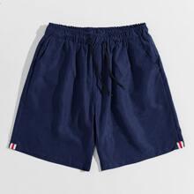Guys Solid Drawstring Shorts
