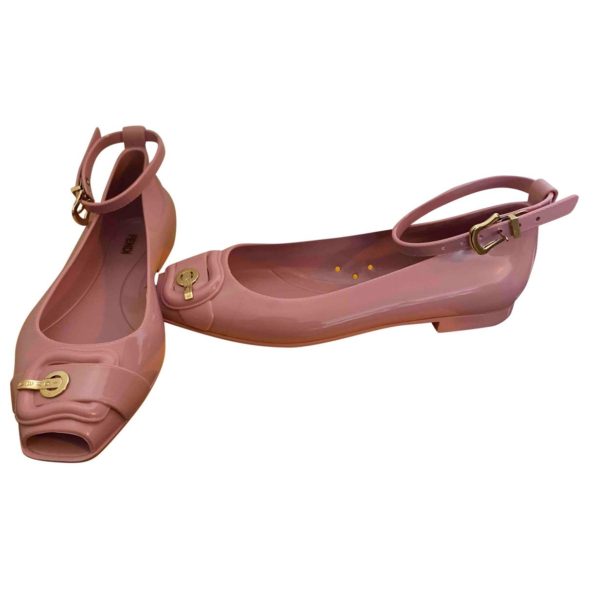 Fendi \N Pink Flats for Women 36 EU