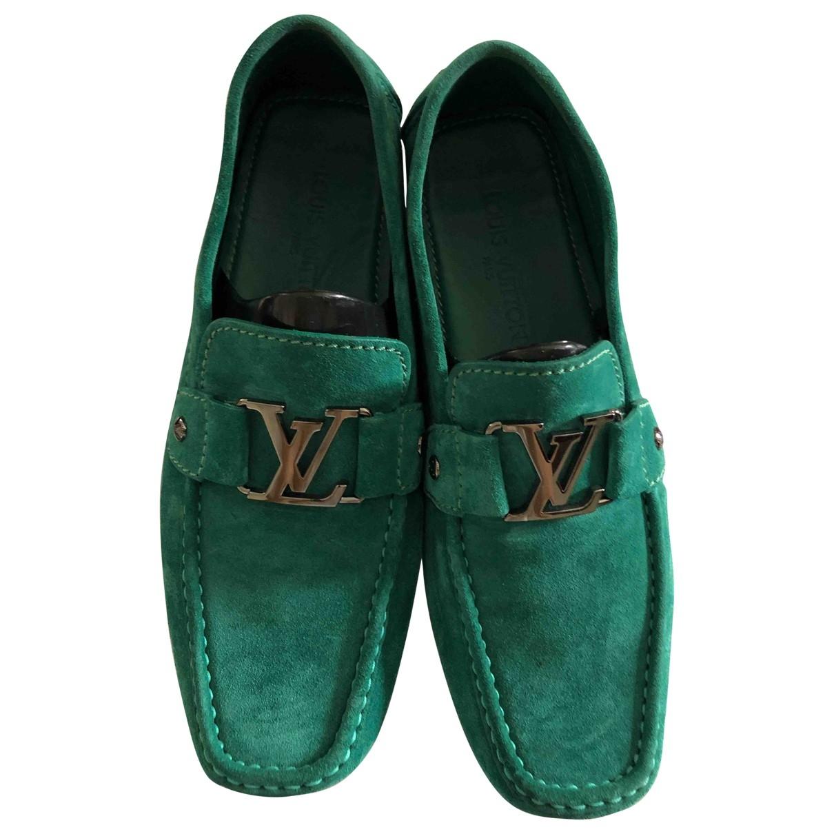 Louis Vuitton \N Green Suede Flats for Men 7.5 US