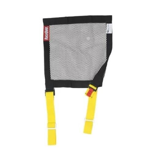 RaceQuip Window Net Mesh - Black - With Strap Mounts