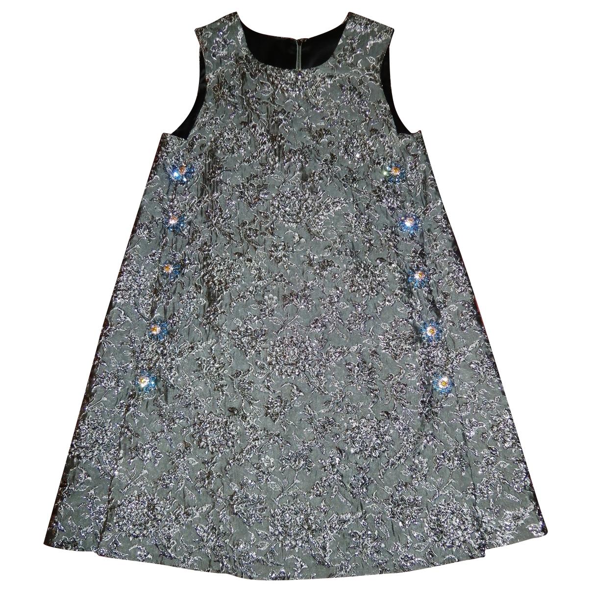 Dolce & Gabbana \N Kleid in  Metallic Synthetik