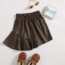 Faldas para niña pequeña Lazo Liso Casual
