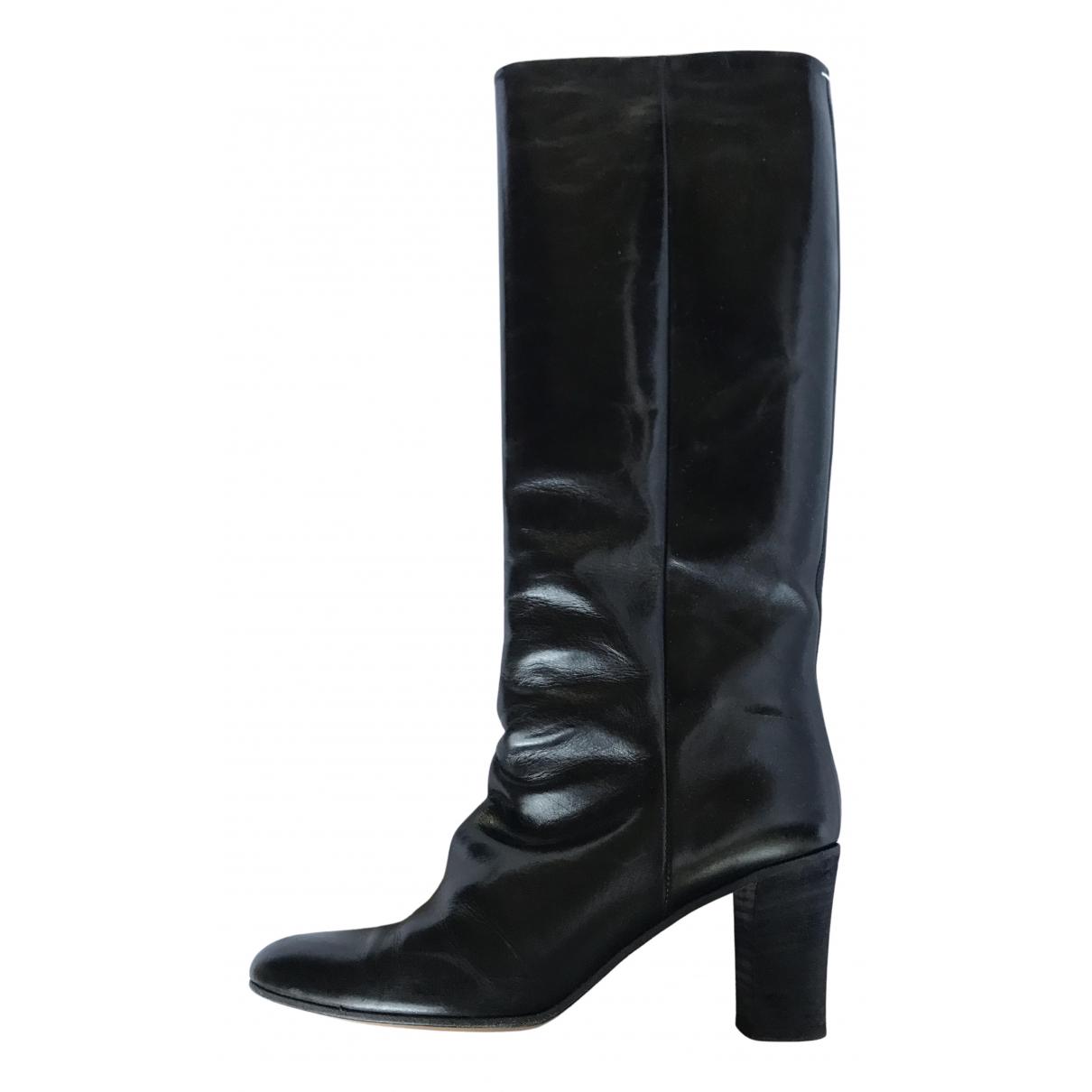 Maison Martin Margiela - Bottes   pour femme en cuir - noir