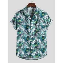 Guys Tropical Print Shirt