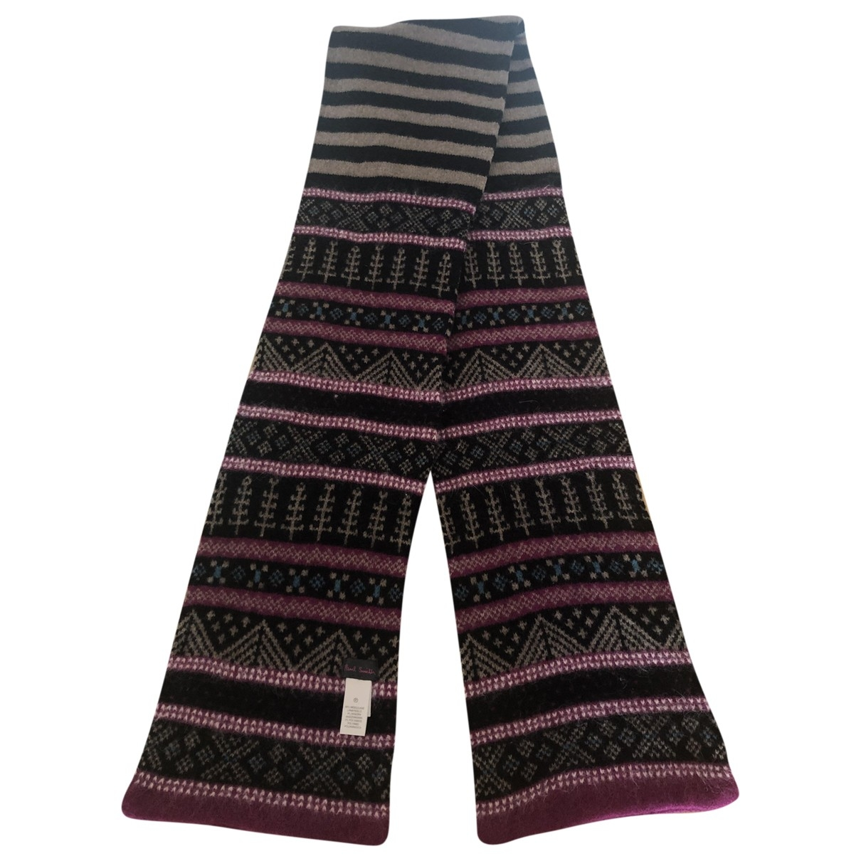 Paul Smith - Foulard   pour femme en laine - noir