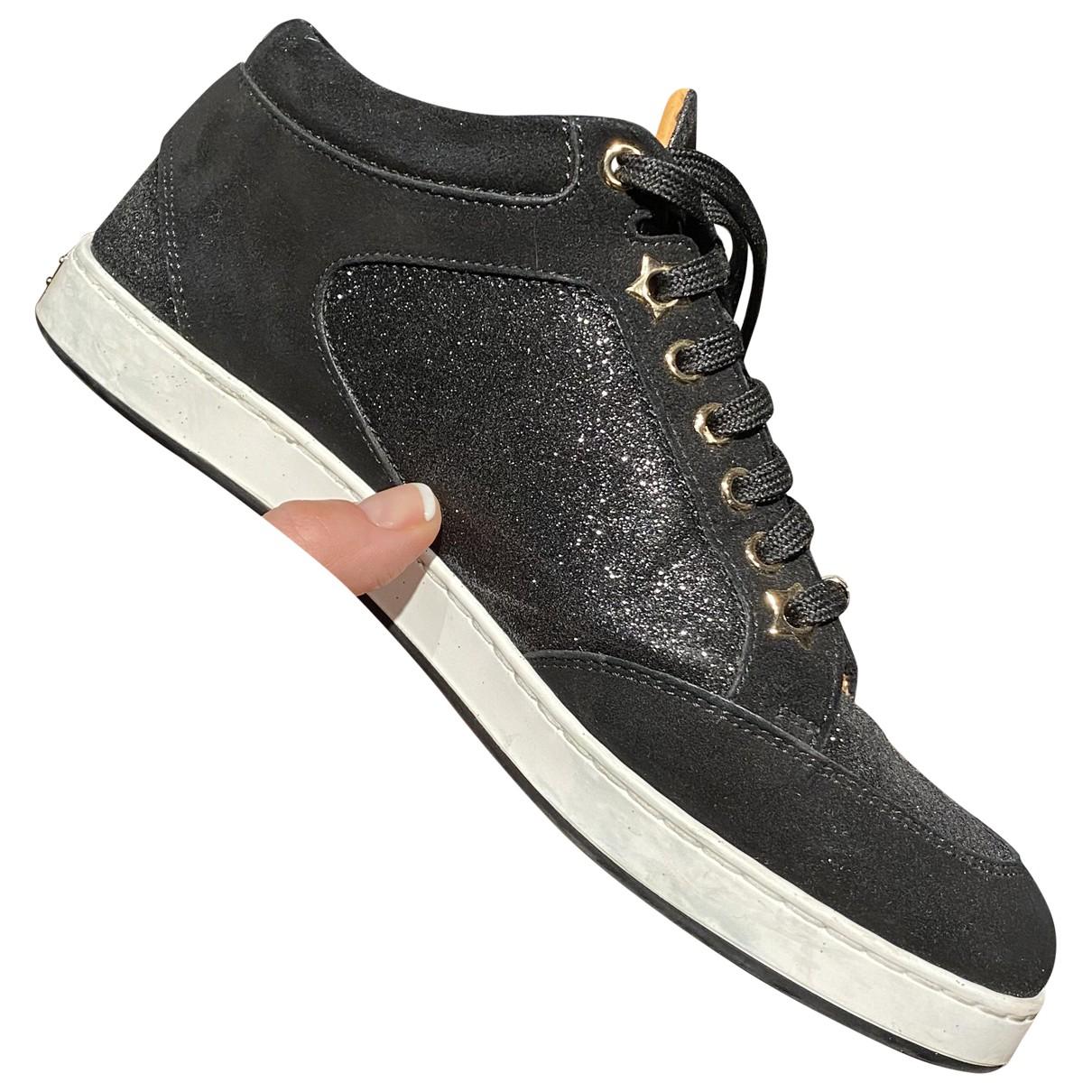 Jimmy Choo \N Sneakers in  Schwarz Mit Pailletten