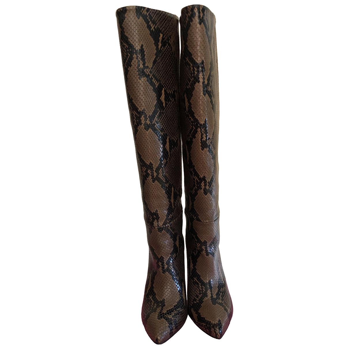 Paris Texas - Bottes   pour femme en cuir - marron