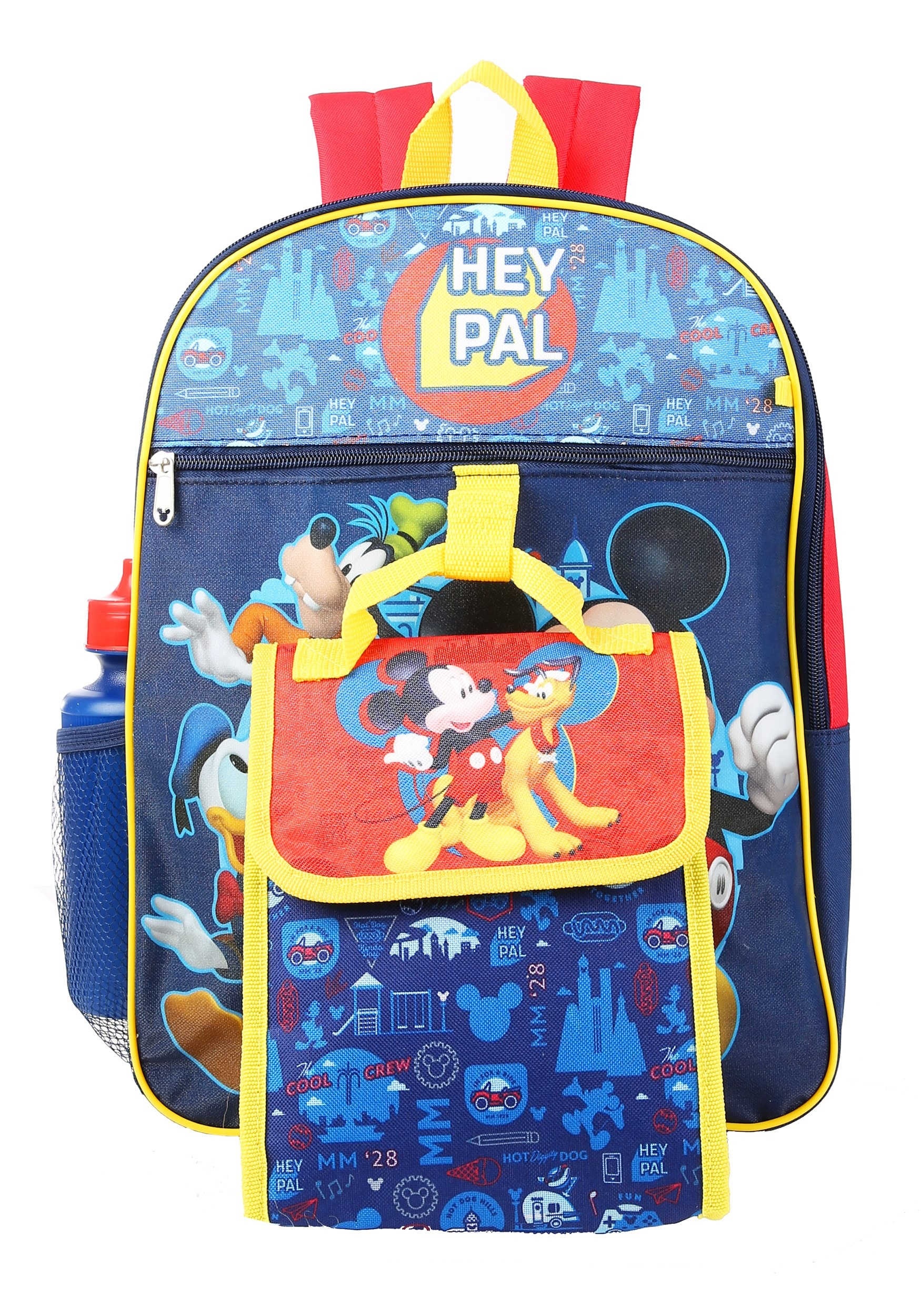 5pc Mickey Mouse Backpack Set