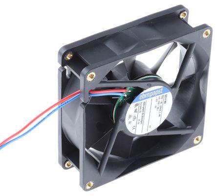 ebm-papst , 24 V dc, DC Axial Fan, 80 x 80 x 25mm, 79m³/h, 2.4W