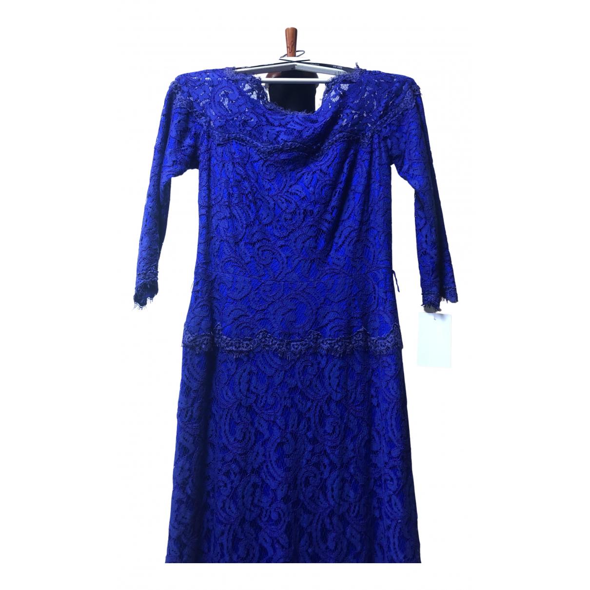 Tadashi Shoji \N Kleid in  Blau Spitze