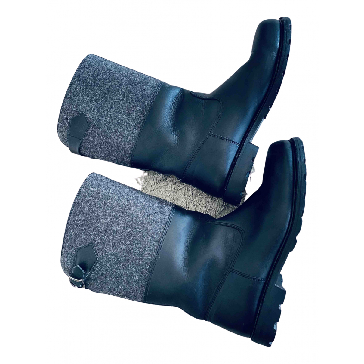 Ludwig Reiter \N Black Leather Boots for Men 45 EU