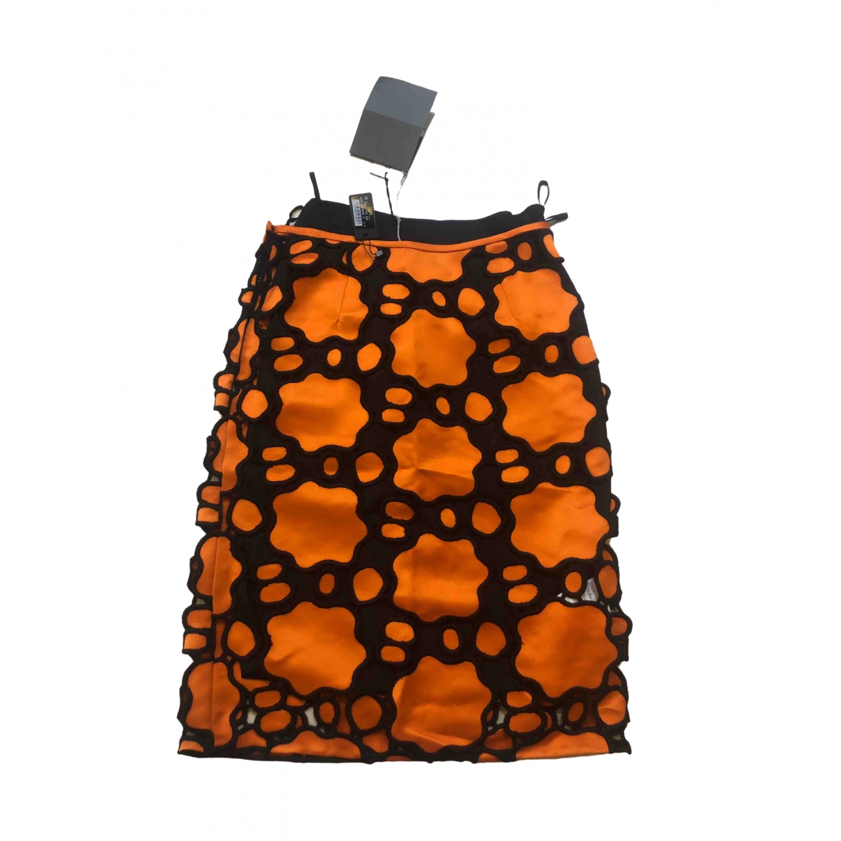 Prada - Jupe   pour femme en soie - orange
