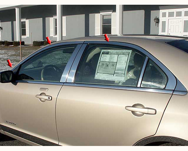 Quality Automotive Accessories 6-Piece Window Package without Pillar Post Lincoln MKZ 2012