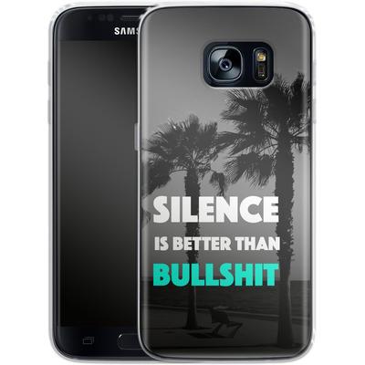 Samsung Galaxy S7 Silikon Handyhuelle - Silence Is Better von Statements