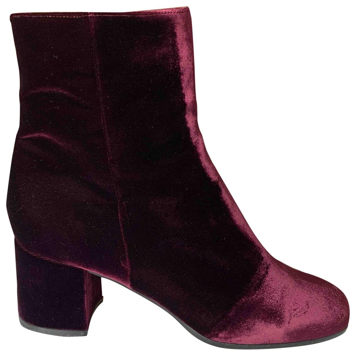 Gianvito Rossi - Boots   pour femme en velours - violet