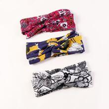 3pcs Floral Pattern Headband