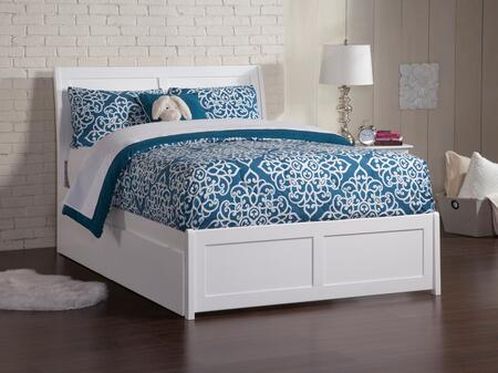 Portland Collection AR8936112 Full Size Platform Bed with 2 Urban Bed Drawers  Hardwood Slat Kit  Matching Footboard and Eco-Friendly Solid Hardwood