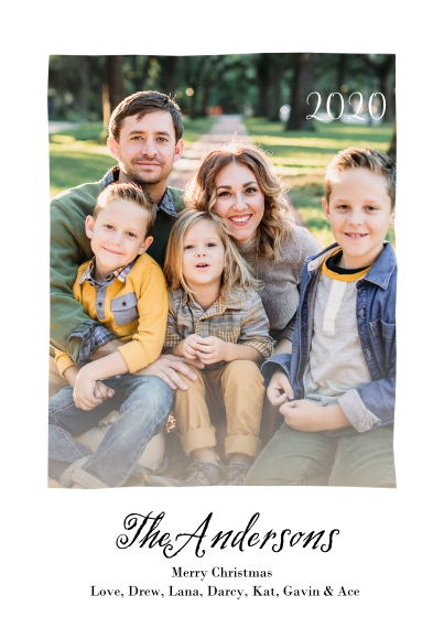 Christmas Photo Cards Flat Matte Photo Paper Cards with Envelopes, 5x7, Card & Stationery -Mod Script