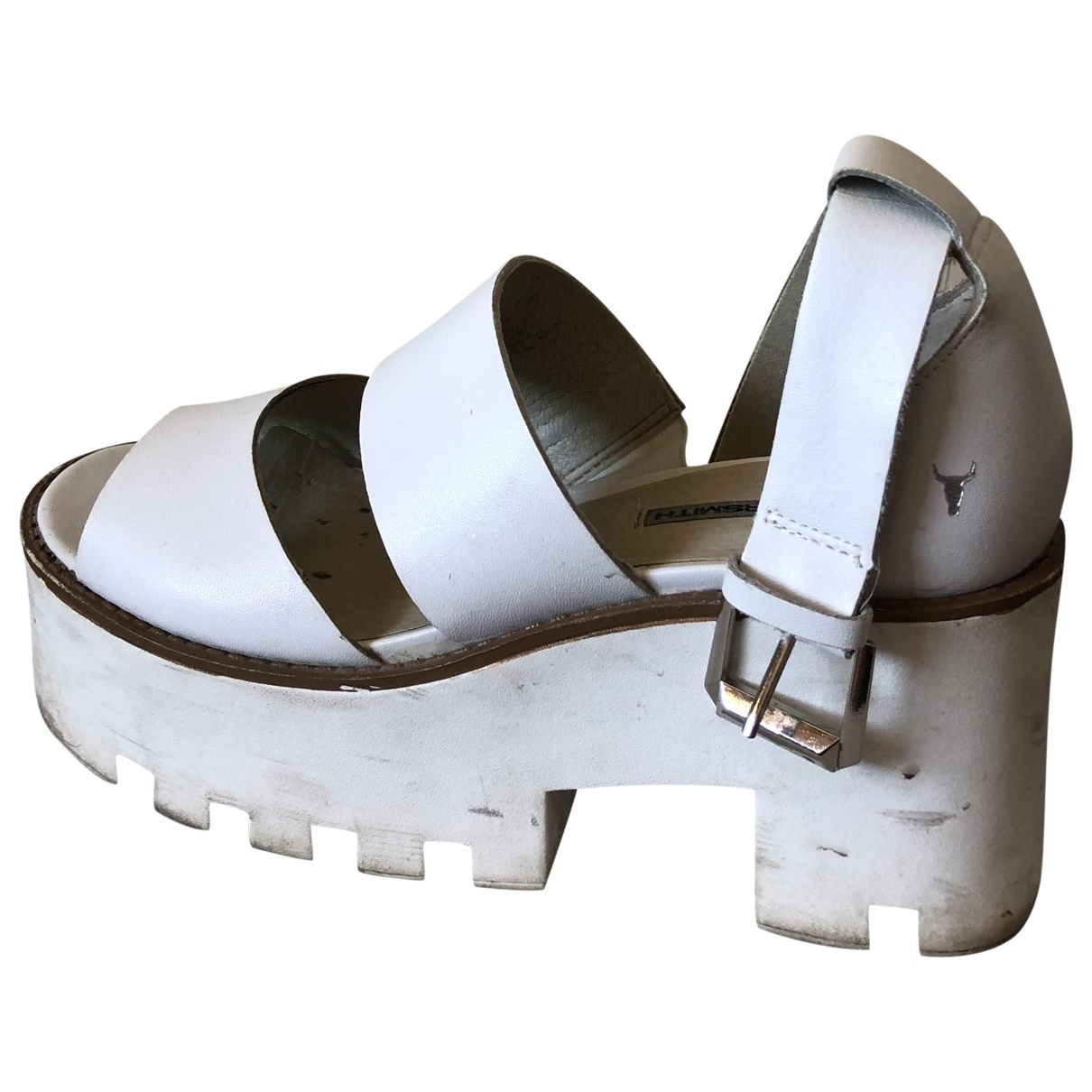 Windsor Smith \N White Leather Sandals for Women 38 EU