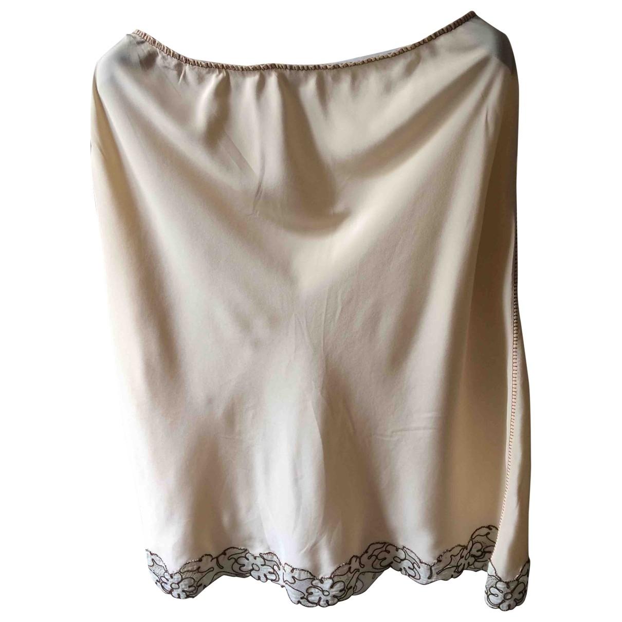 Alberta Ferretti - Jupe   pour femme en soie - ecru