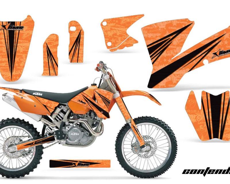 AMR Racing Dirt Bike Graphics Kit Decal Wrap For KTM  SX SXS EXC MXC 2001-2004áCONTENDER BLACK ORANGE