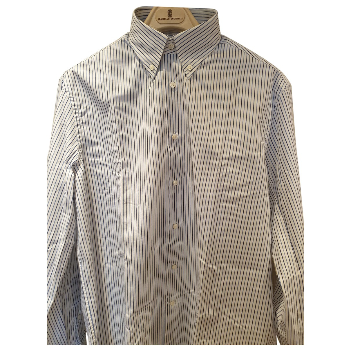 Brunello Cucinelli \N Blue Cotton Shirts for Men L International