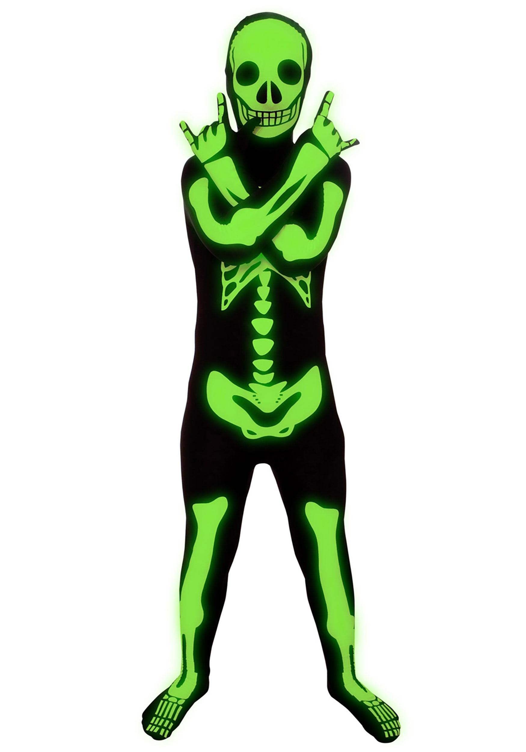 Glow in the Dark Skeleton Costume for Kids