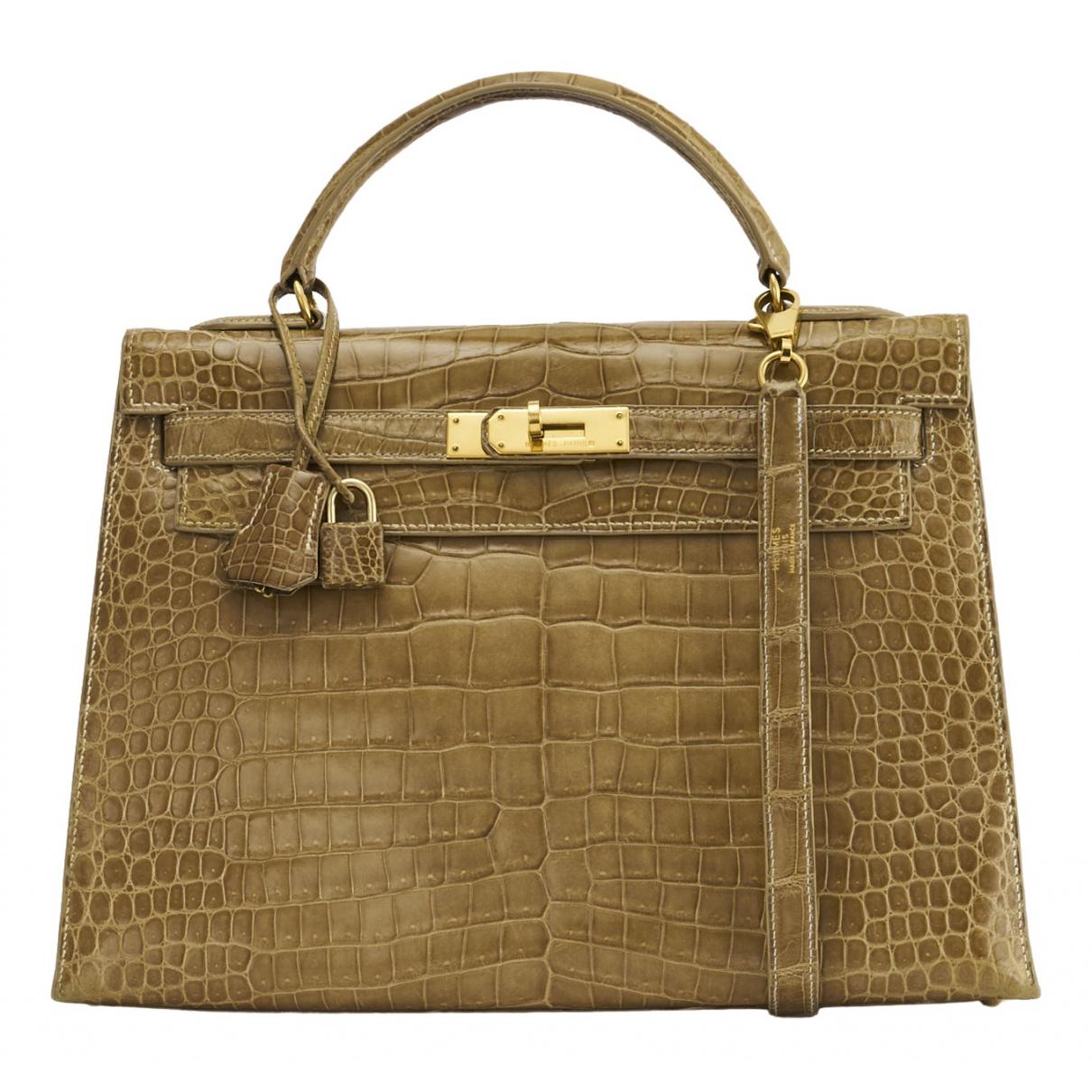 Hermès Kelly 32 Brown Crocodile handbag for Women N