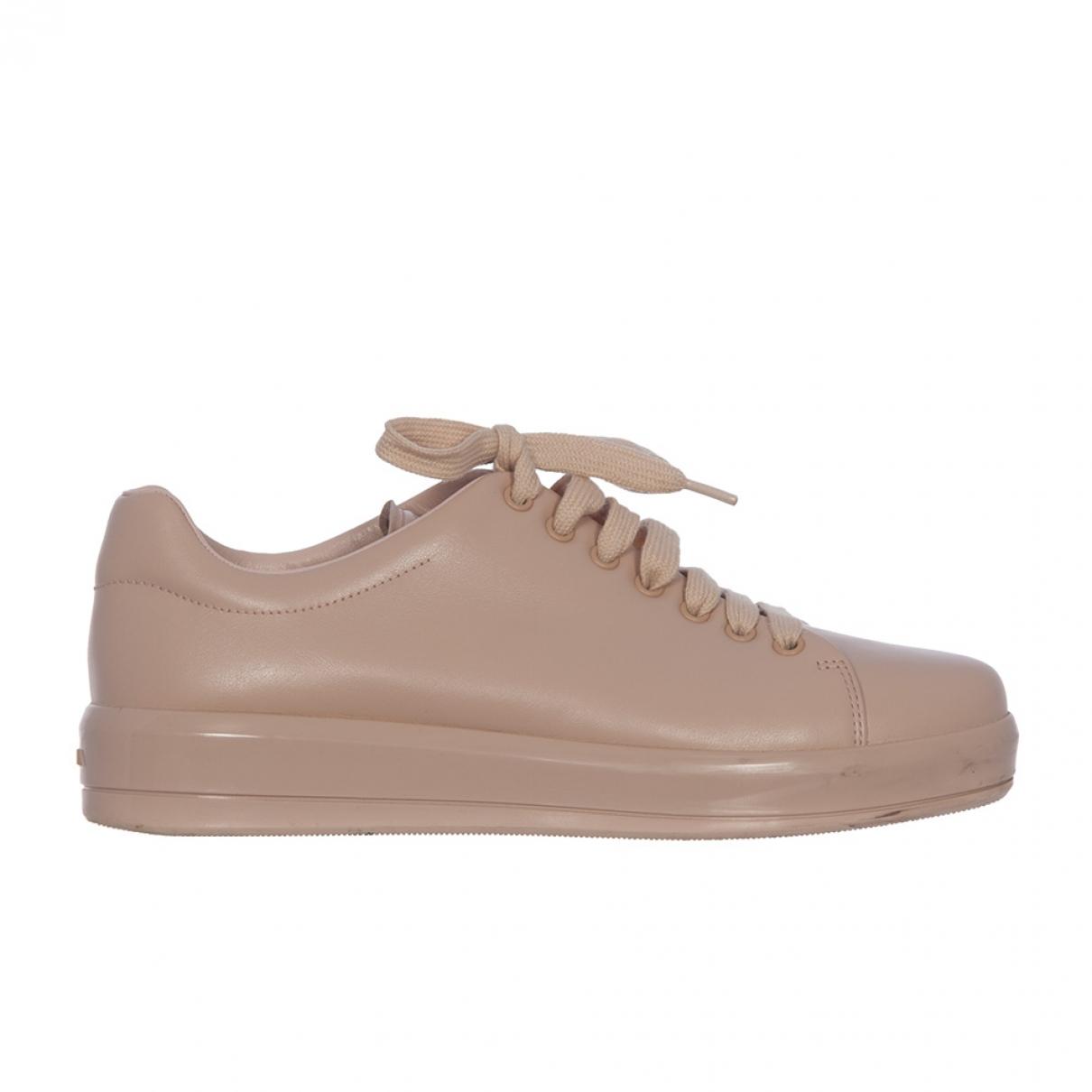 Prada \N Sneakers in  Rosa Leder