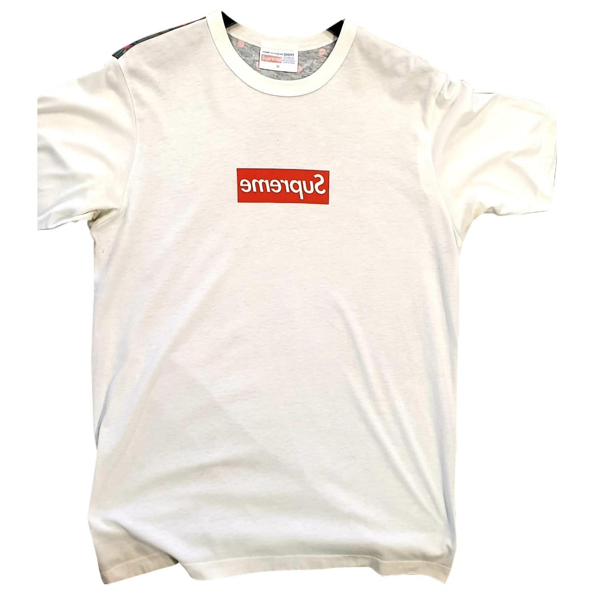 Supreme X Comme Des Garcons - Tee shirts   pour homme en coton - blanc