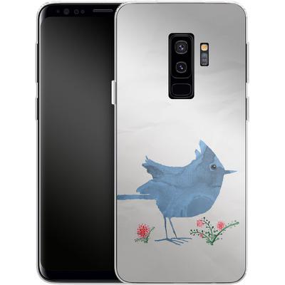Samsung Galaxy S9 Plus Silikon Handyhuelle - Watercolour Bird White von caseable Designs
