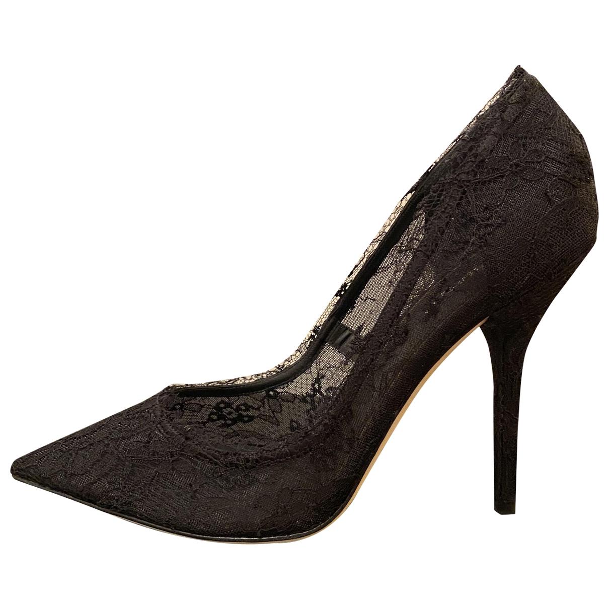 Dolce & Gabbana - Escarpins   pour femme en toile - noir