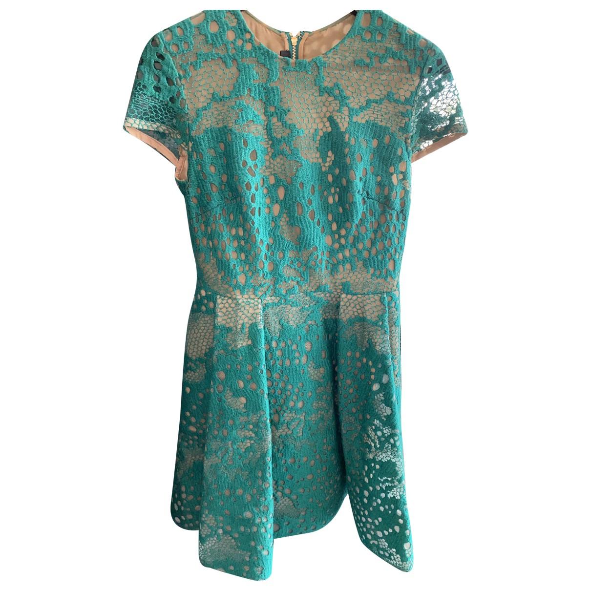 Elie Saab \N Kleid in  Gruen Baumwolle