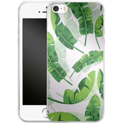 Apple iPhone 5 Silikon Handyhuelle - Banana Leaf von Mukta Lata Barua