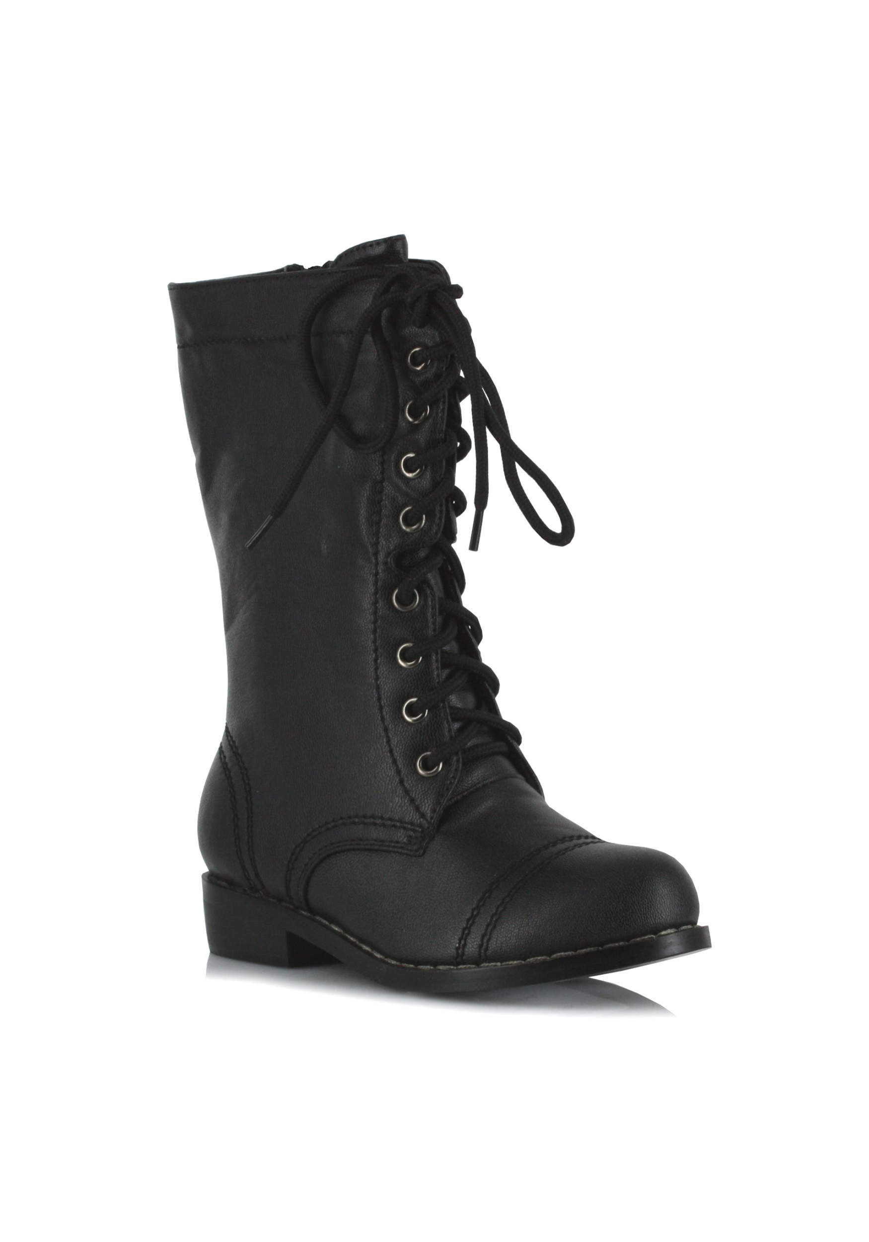 Black Costume Military Boots for Kids