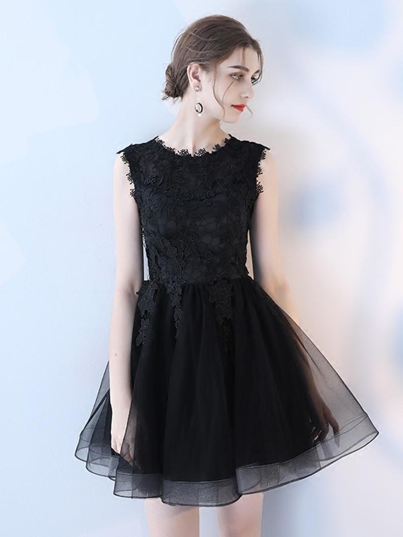 Ericdress Sleeveless A-Line Short Lace Homecoming Dress