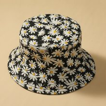 Daisy Floral Reversible Bucket Hat
