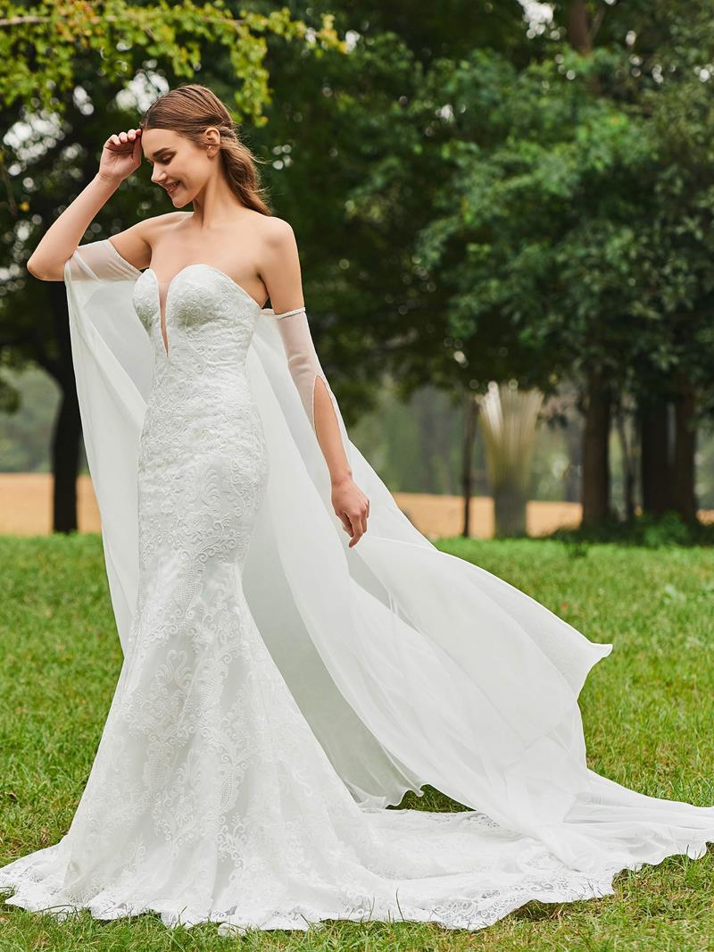 Ericdress Sweetheart Mermaid Lace Wedding Dress with Shawl