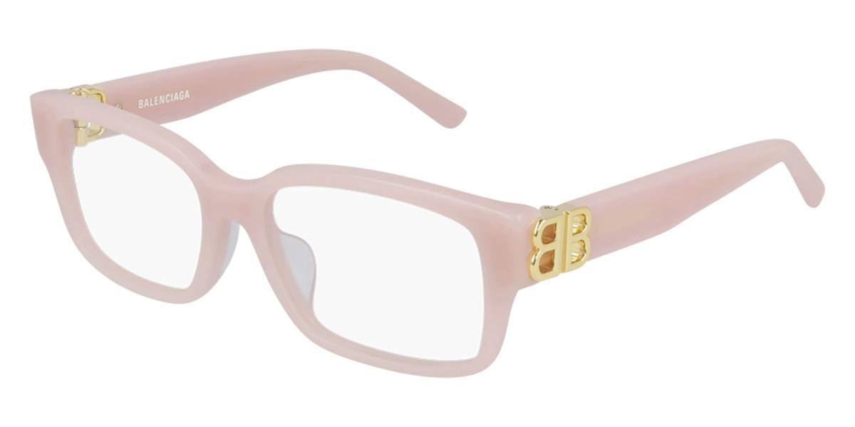 Balenciaga BB0105O 004 Women's Glasses Pink Size 54 - Free Lenses - HSA/FSA Insurance - Blue Light Block Available