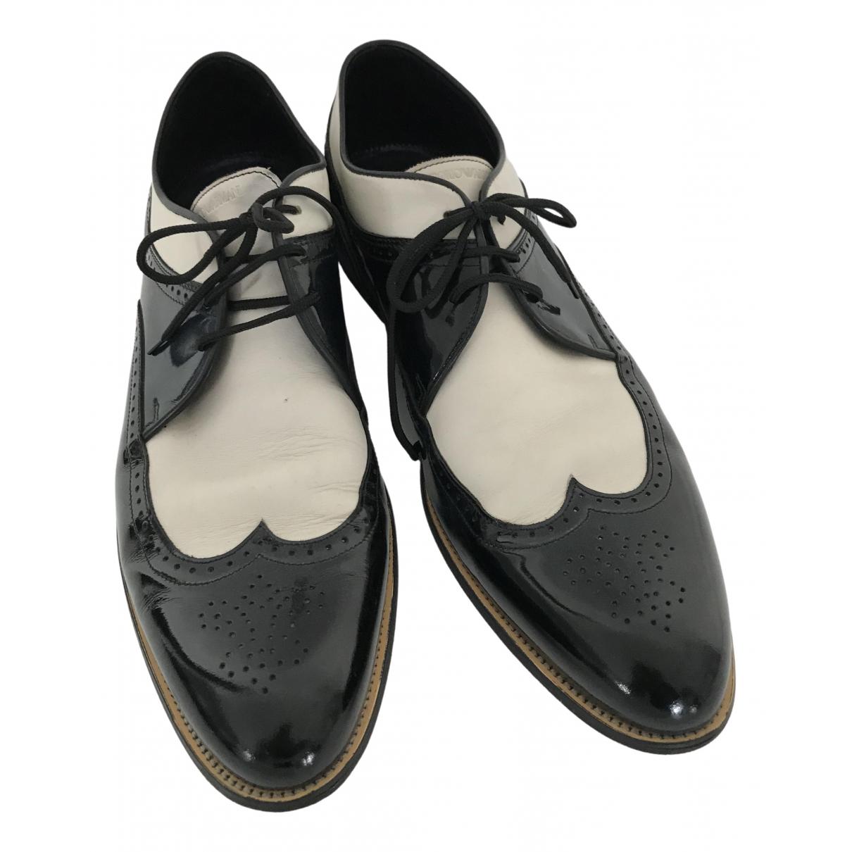 Emporio Armani - Derbies   pour homme en cuir - blanc