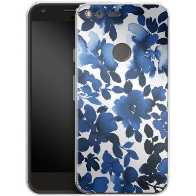 Google Pixel XL Silikon Handyhuelle - Sophia Blue Floral von Amy Sia