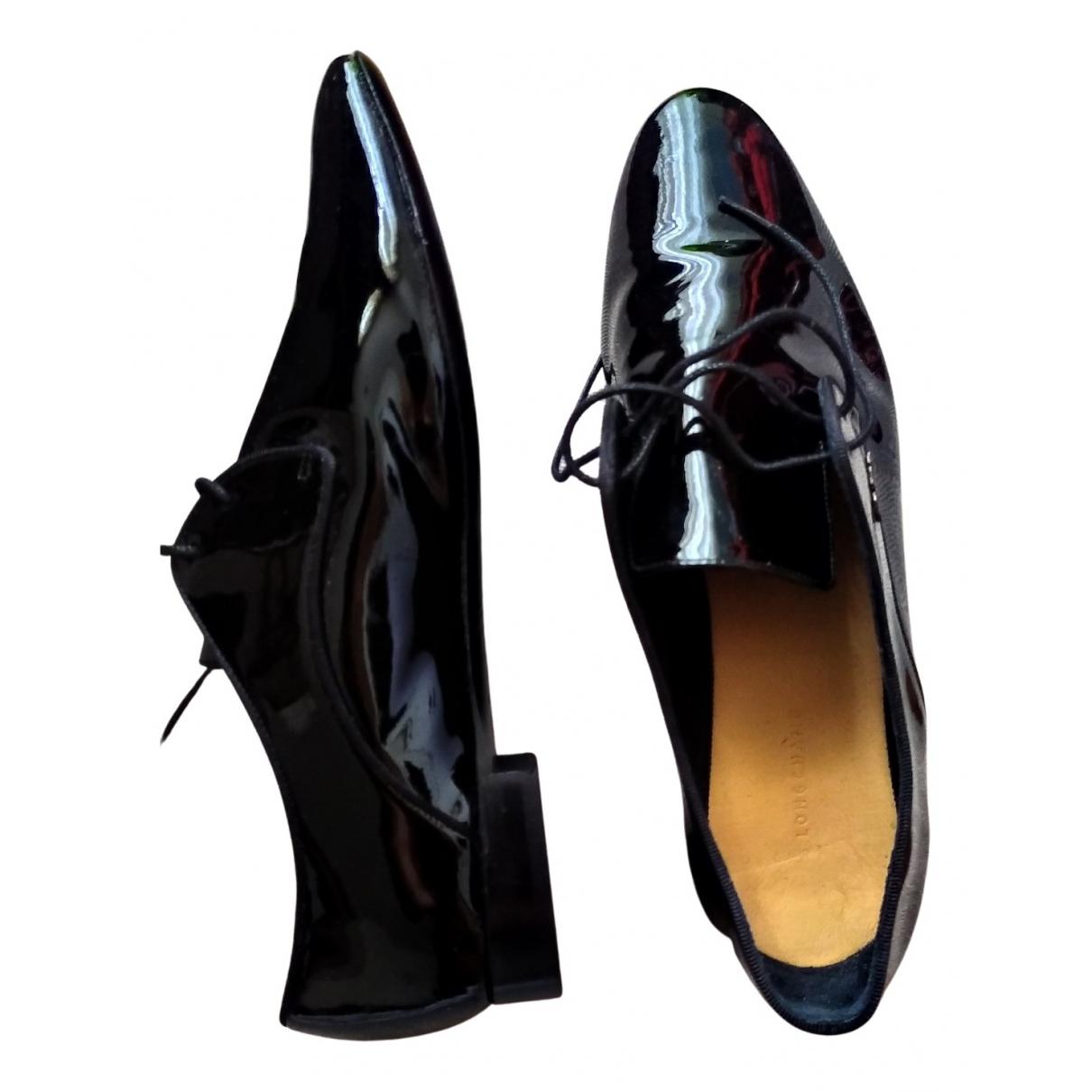 Longchamp \N Schnuerschuhe in  Schwarz Lackleder